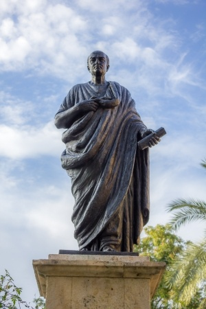 Statue of Seneca in Cordoba, Spain