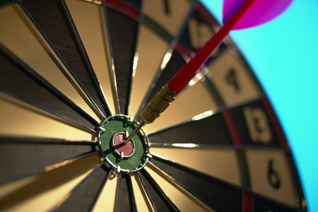 Dart Hitting Bull's-eye
