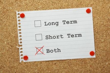 Both Long Term and Short Term Goals