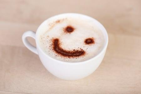 Smiley Face in Cappuccino Foam